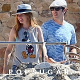 Sacha Baron Cohen and Isla Fisher France Vacation Pictures