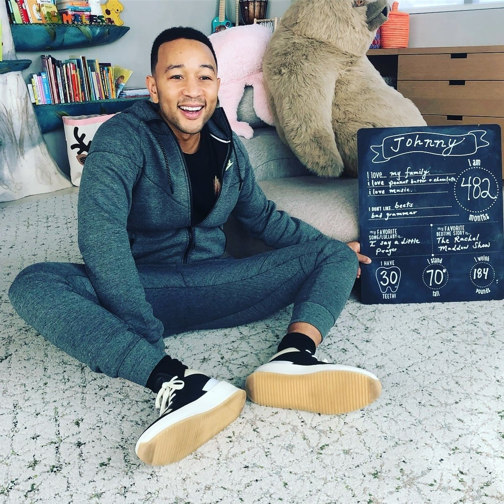 John Legend Monthly Milestone Photo by Chrissy Teigen