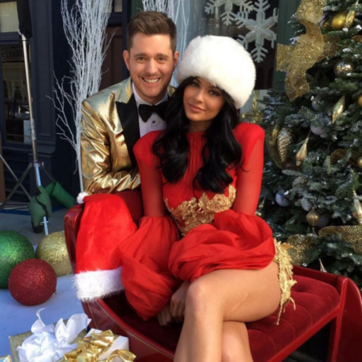michael buble christmas photo with kylie jenner popsugar celebrity