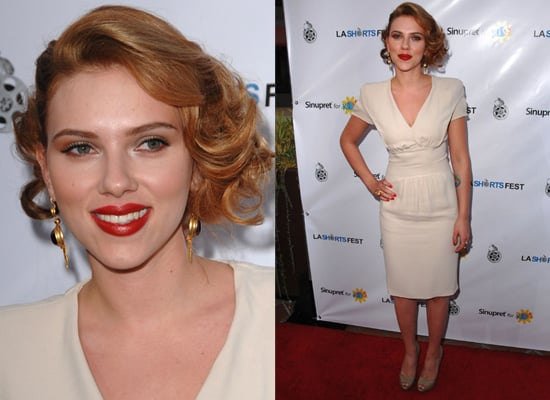 Photos of Scarlett Johansson on Red Carpet at LA Shorts Fest'09