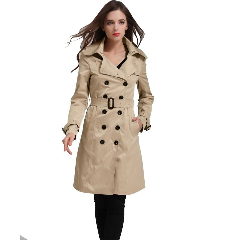 Eorish Double Breasted Trench Coat