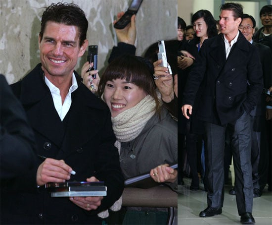 Photos of Tom Cruise at Airport in South Korea