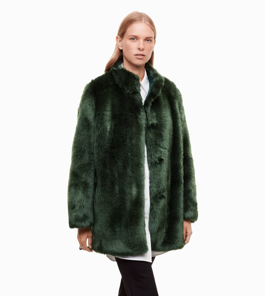 Prefer a monochromatic interpretation of the trend? This Babaton Fritz Coat ($275) in an unexpected jewel tone is a solid choice.