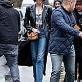 Kaia Gerber's Street Style at Paris Fashion Week