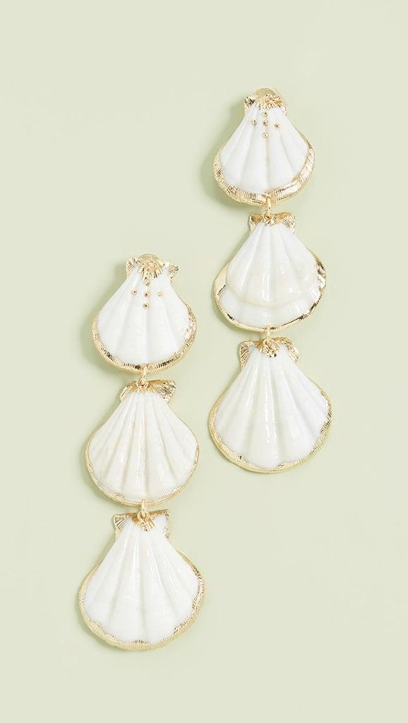 Ariel: Mercedes Salazar Shell Linear Drop Earrings