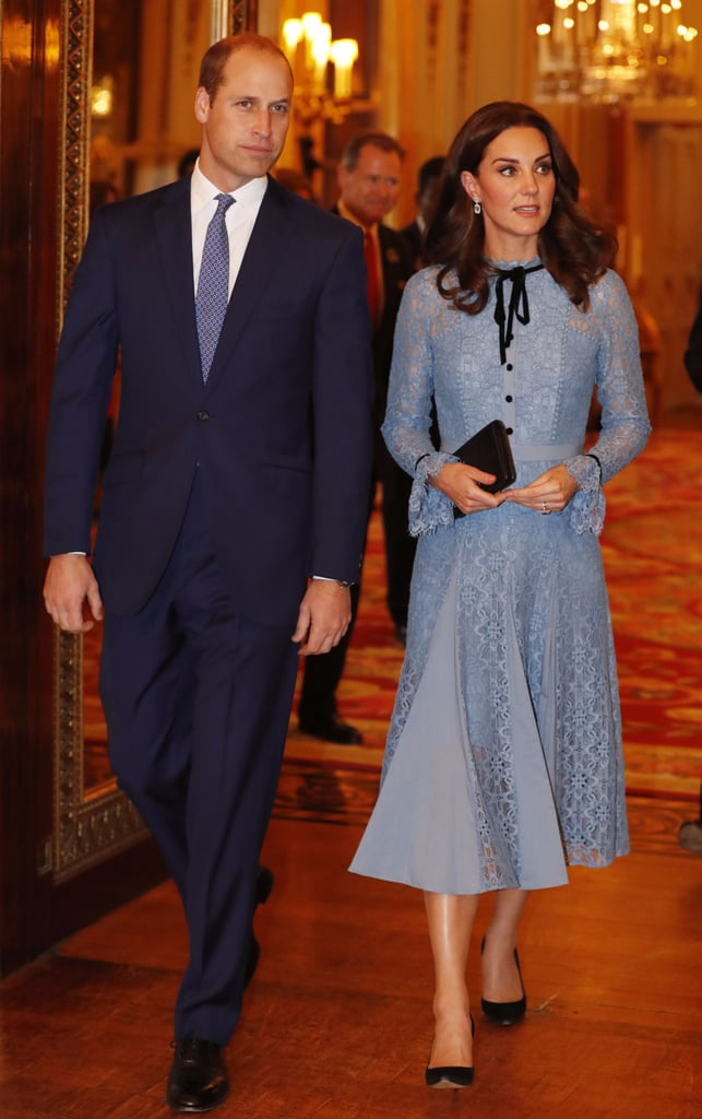Kate Middleton Blue Temperley London Dress