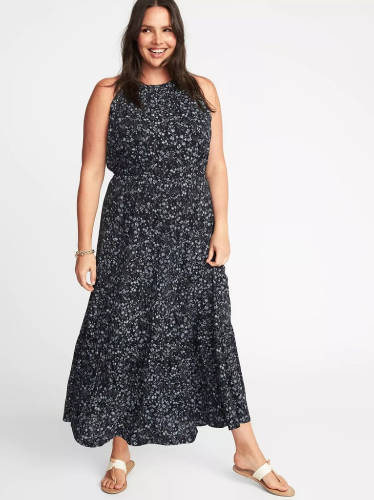 a8e5cffaab Old Navy Waist-Defined Halter Plus-Size Maxi Dress | Cheap Maxi ...
