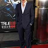Ryan Kwanten of True Blood looked every bit the Southern gentleman in this striped blue suit and dusty brown shoes.