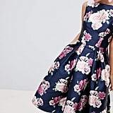 Chi Chi London Satin Midi Prom Dress