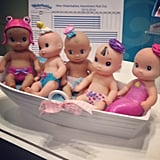 Waterbabies is expanding its line to include Wee Waterbabies. Check out the one with the swim cap — how cute!