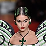 Kaia Gerber's Green Hair and Dark Lips