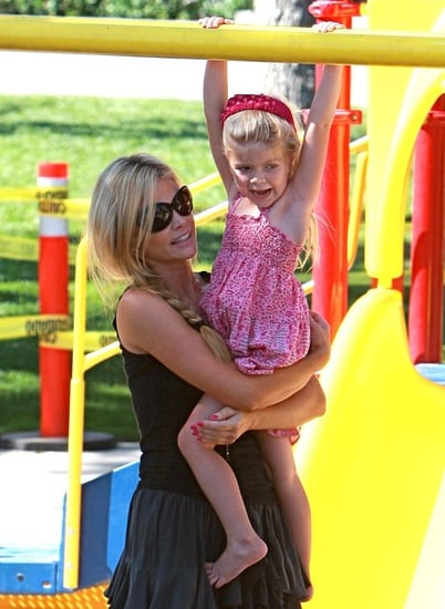 Denise Richards at the park with her daughters