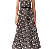 ML Monique Lhuillier Floral Jacquard Evening Dress
