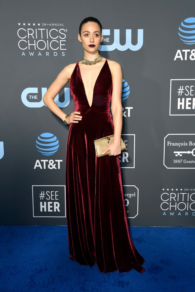 Emmy Rossum at the 2019 Critics' Choice Awards