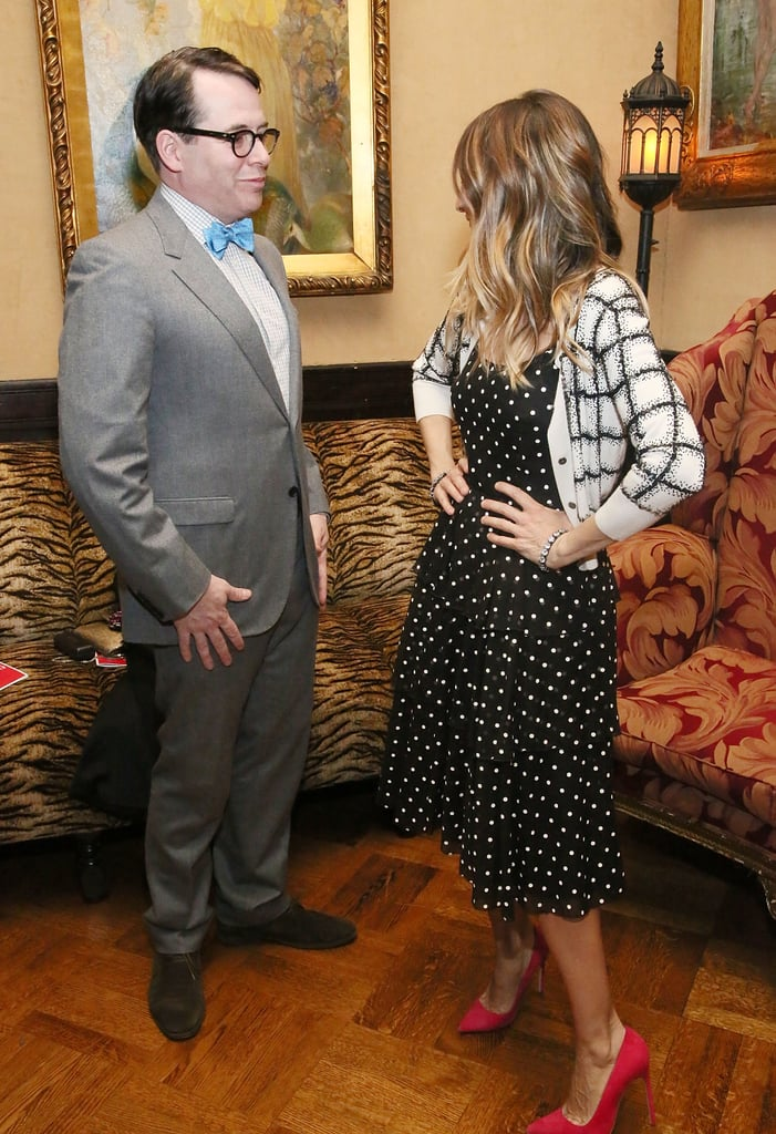 Sarah Jessica Parker and Matthew Broderick posed at the Love N' Courage benefit in NYC.