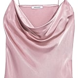 Protagonist Draped Hammered-Charmeuse Camisole ($320)