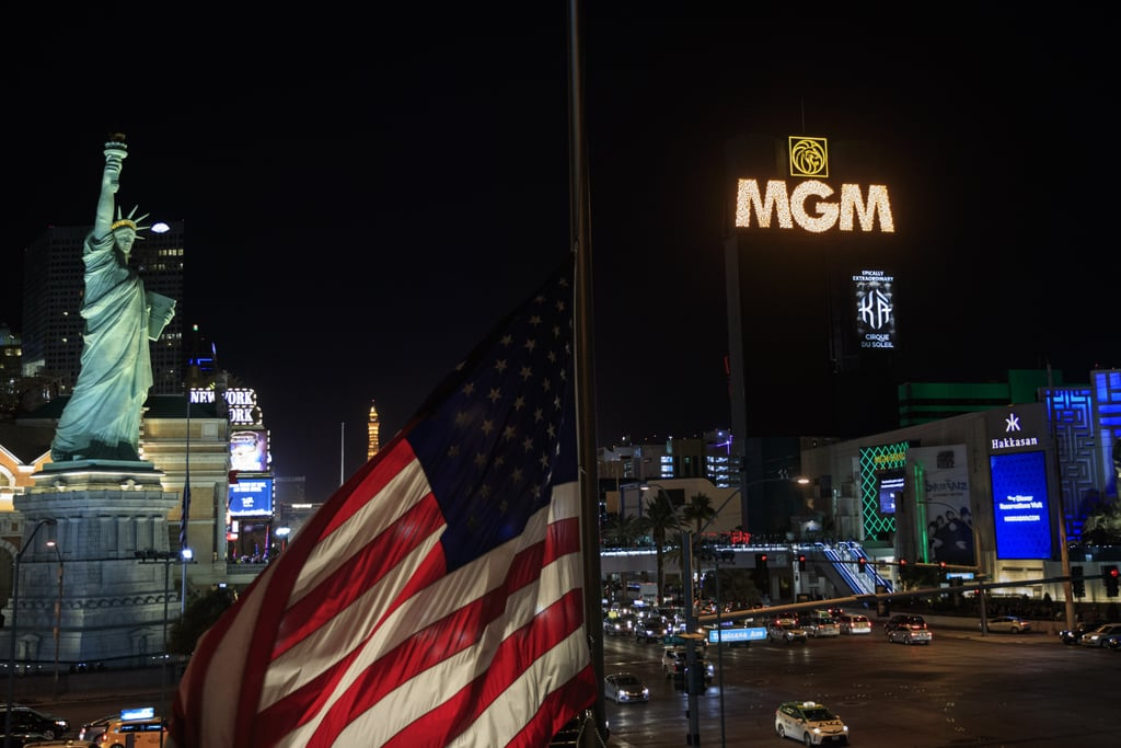 """A week after the devastating shooting at a country music festival in Las Vegas, the city came together to honor the 58 victims and hundreds injured in the attack. On the evening of Oct. 8, the strip's most famous marquees went completely dark from 10:05 p.m. to 10:16 p.m. — the exact time the shooting took place.   Though the city appeared pretty illuminated, the contrast between its usual brightness and the 11 minutes of darkness was noticeable. Following the tribute, several marquees read, """"When things get dark, Las Vegas shines."""" That evening, civilians also held a candlelight vigil at a makeshift memorial on the north end of the Las Vegas Strip. See powerful pictures from the city's tribute, ahead.       Related:                                                                                                           Jason Aldean Opens SNL With an Emotional Tom Petty Cover in Honor of Las Vegas Victims"""