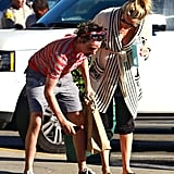 Kate Hudson and Matthew Bellamy picked up a few groceries.