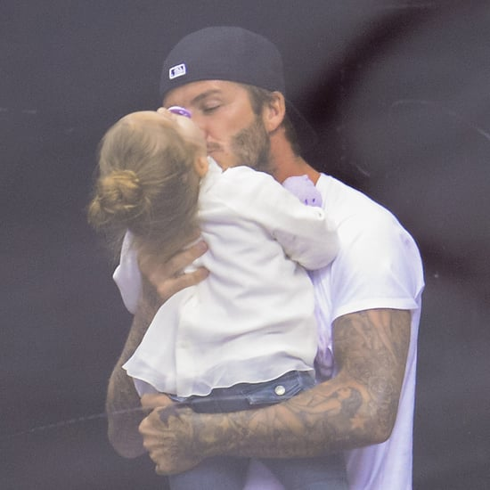 The Beckhams at the LA Kings Game 2014