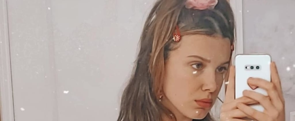 Millie Bobby Brown's Scrunchie and Strawberry Clip Hairstyle