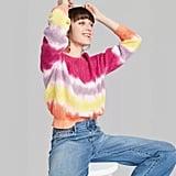 Target Crewneck Oversized Tie-Dye Pullover Sweater
