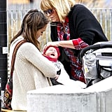 Jessica Alba with Haven Warren at a park in NYC.