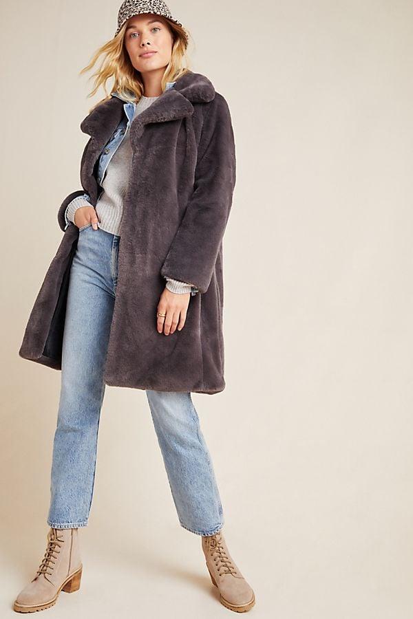 Avec Les Filles Remsen Faux Fur Coat