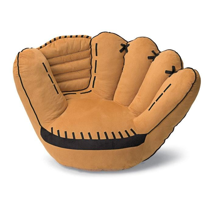 Genial He Can Sit Back In This Baseball Glove Chair ($150) When He Watches His