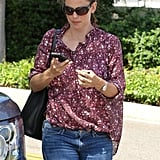 Jennifer Garner wore a pair of jeans.