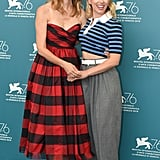 Laura Dern and Scarlett Johansson at the Marriage Story Photocall