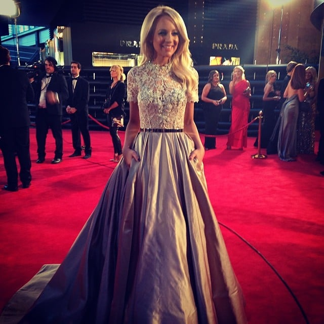 Carrie Bickmore in Paolo Sebastian at the 2014 Logie Awards ...
