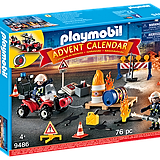Playmobil Construction Site Fire Rescue Advent Calendar