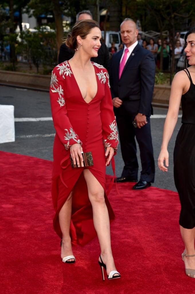 Keri Russell's Red Dress at the Tony Awards 2016
