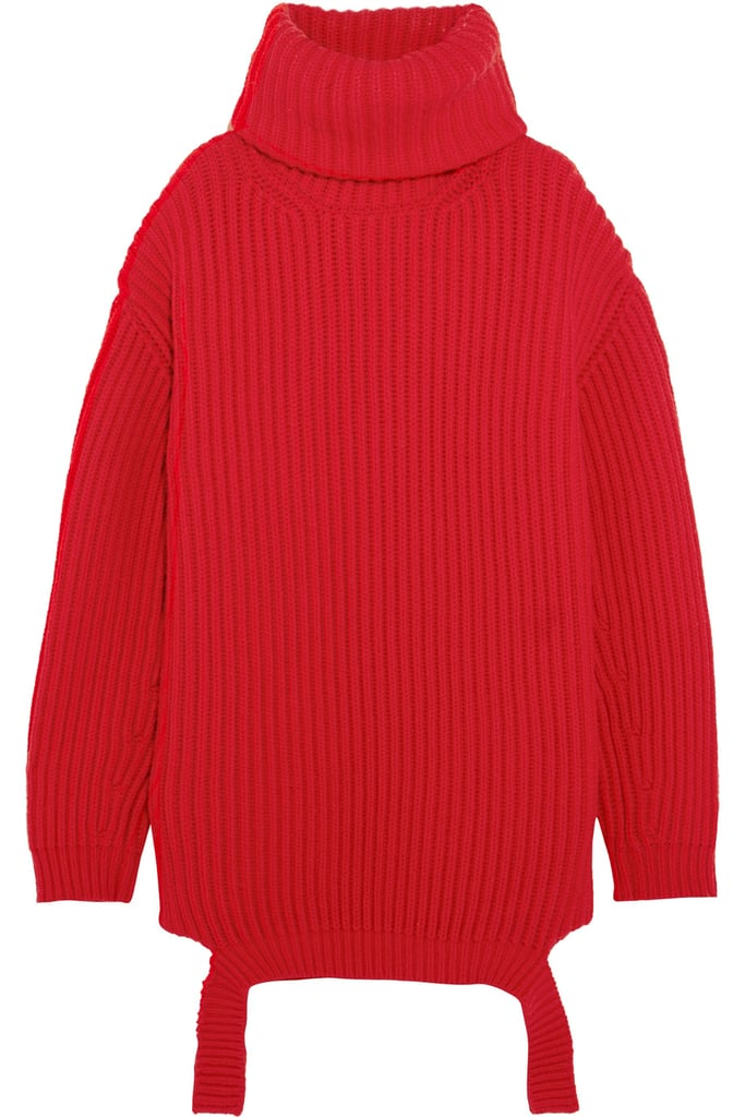 Balenciaga Oversized Ribbed Wool Turtleneck Sweater | Holiday ...