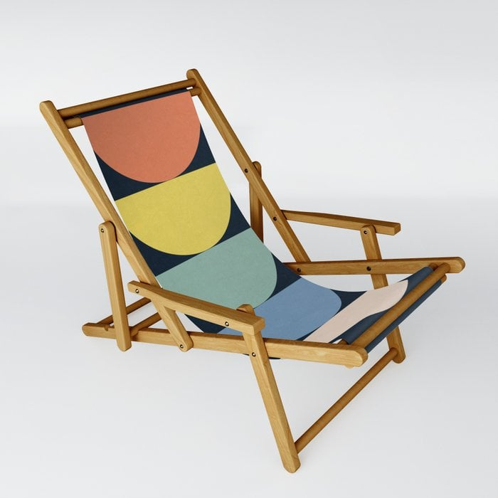 Abstract Flower Palettes Sling Chair by alisagal