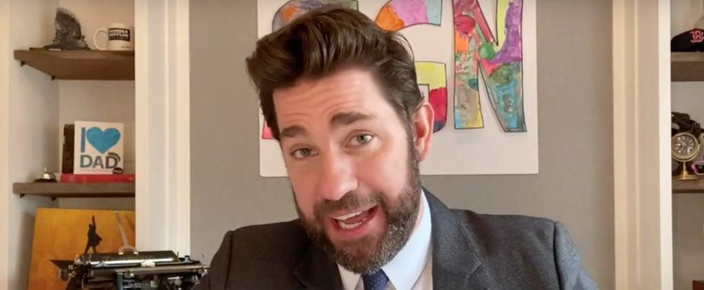 Some Good News: John Krasinski Hosts Virtual Potluck | Video