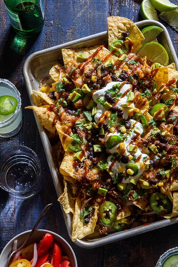 Beer Pulled-Pork Nachos