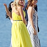 Busy wore a bright yellow dress for the season three finale.