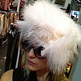 Mena Suvari modeled a furry hat. Source: Instagram user mena13suvari