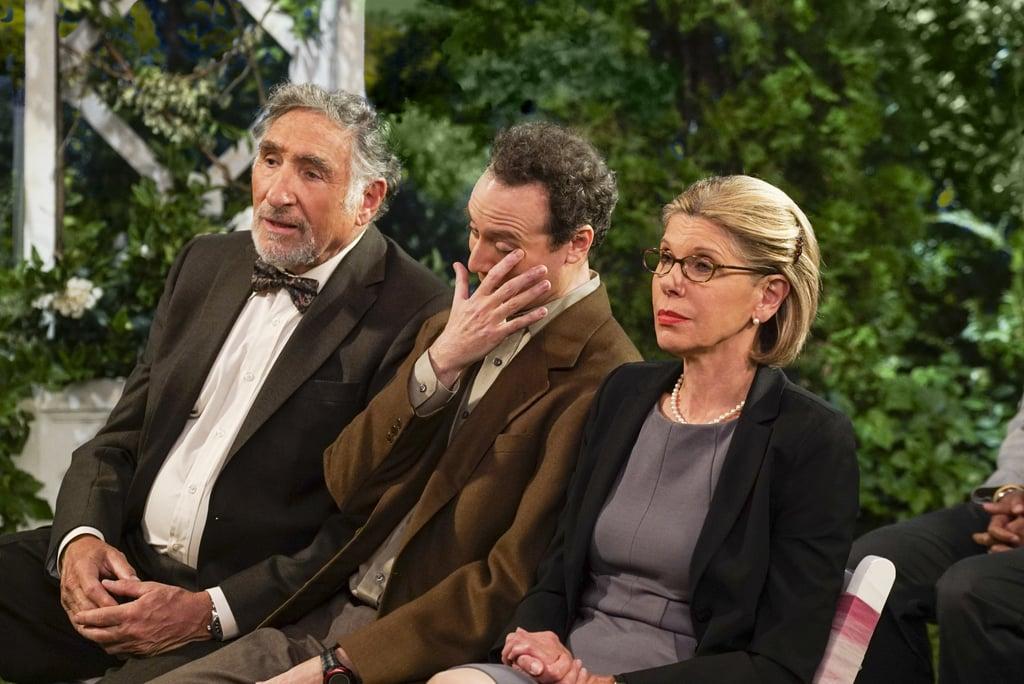Alfred (Judd Hirsch) and Beverly (Christine Baranski).