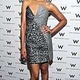 For the San Francisco Film Festival in April 2011, Zoe wore a sculptured Salvatore Ferragamo dress.