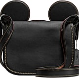 Disney Mickey Mouse Leather Saddle Bag by Coach
