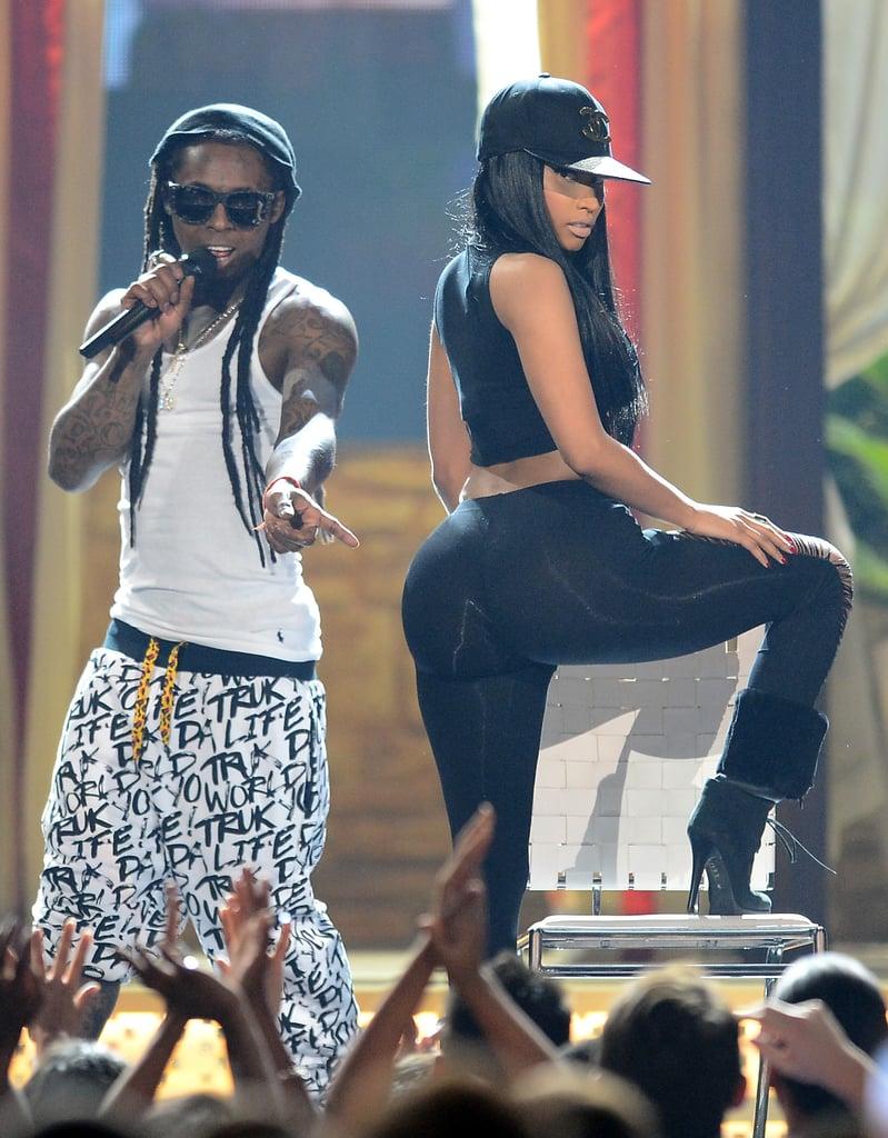 Lil Wayne and Nicki Minaj performed together at the Billboard Music Awards.