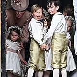George and Charlotte at Pippa Middleton's Wedding Pictures