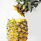 Step 2: Remove the head of the pineapple.