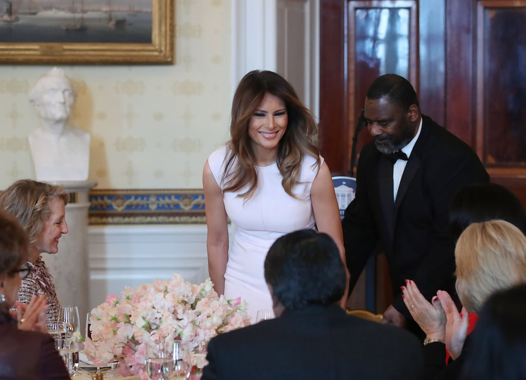 Melania Trump's White Midi Dress