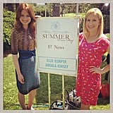 The Office costars Ellie Kemper and Angela Kinsey got together to do some press. Source: Instagram user angelakinsey