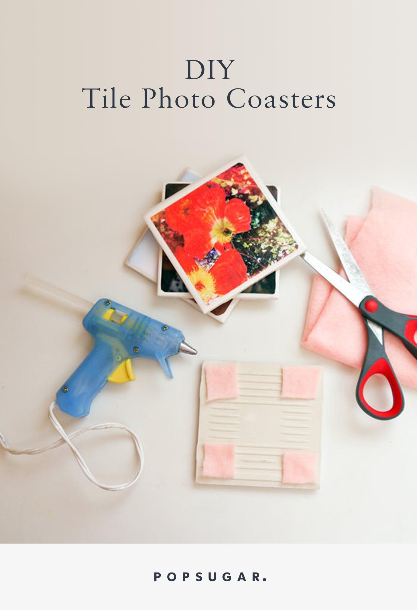 Diy Tile Photo Coasters Popsugar Smart Living