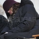 Leighton and Chace Kissing Filming Gossip Girl