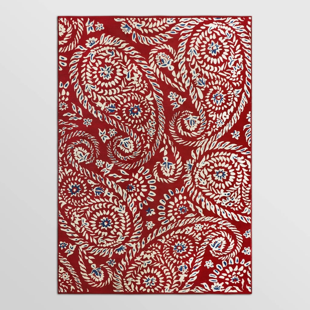 Paisley Red Outdoor Rug